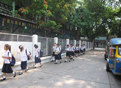 Elementary school students in Thailand