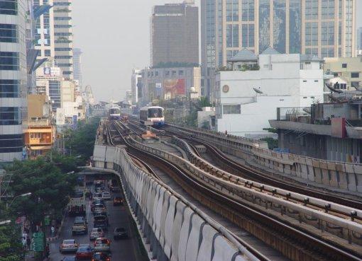 BTS Skytrain elevated railway in Bangkok