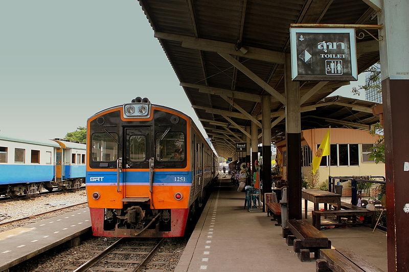 A railway station in Thailand