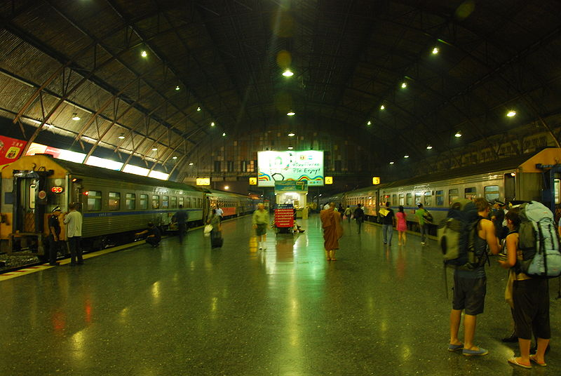 Hua Lamphong Railstation in Bangkok