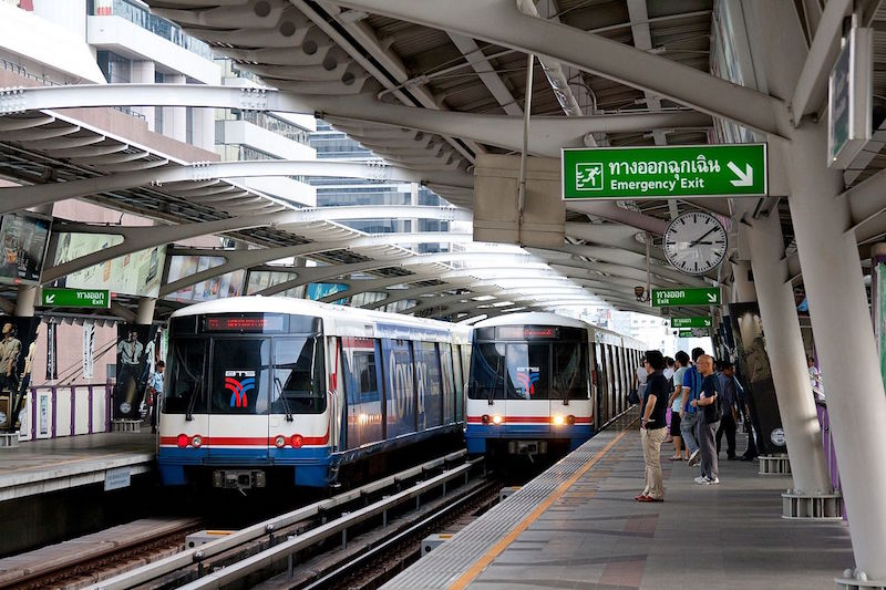 BTS Skytrain at Chong Nonsi station, Bangkok