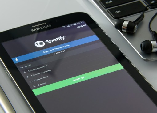 Spotify on a Android mobile phone
