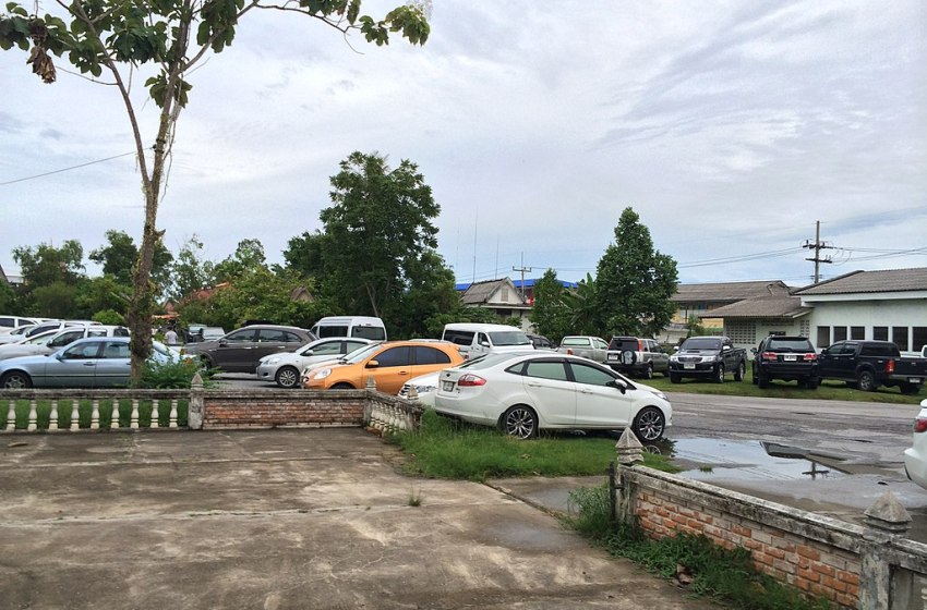 Cars parked in Rusamilae, Pattani