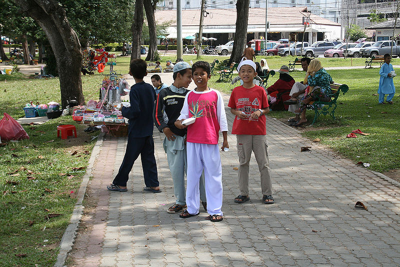 Malay Muslim children in Songkhla