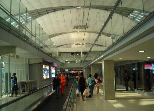 Moving walkway at Suvarnabhumi International Airport, Bangkok