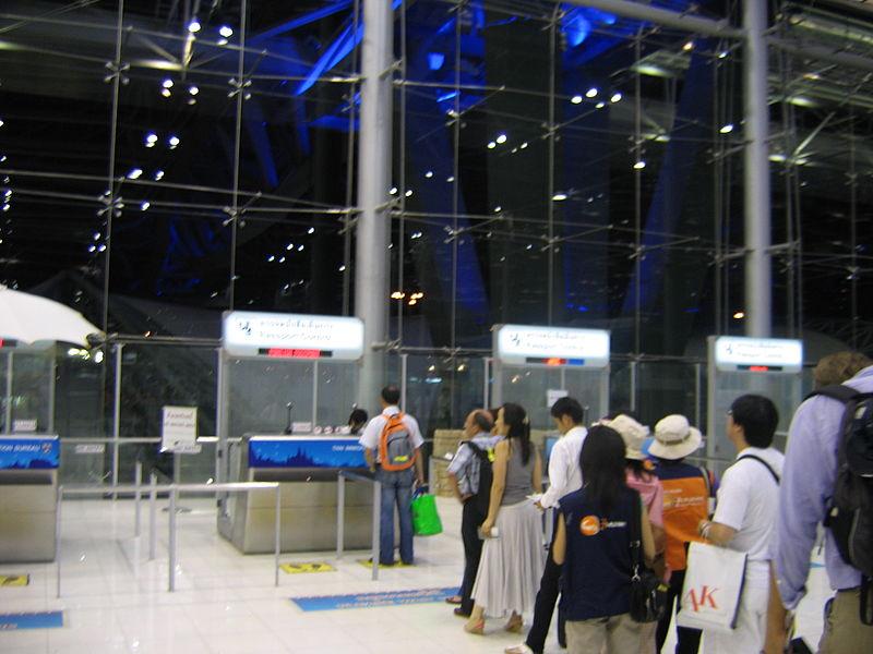 Immigration at Bangkok Suvarnabhumi airport