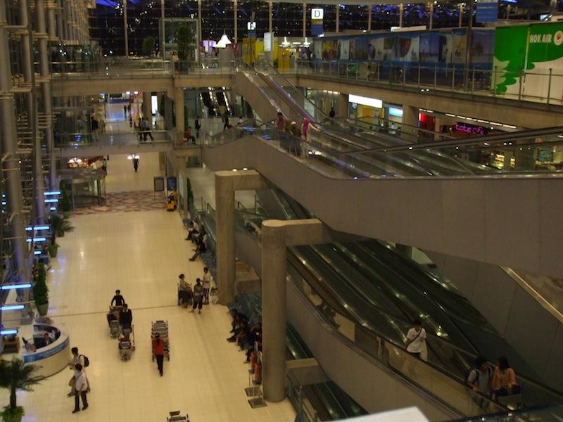 Inside Suvarnabhumi Airport in Bangko