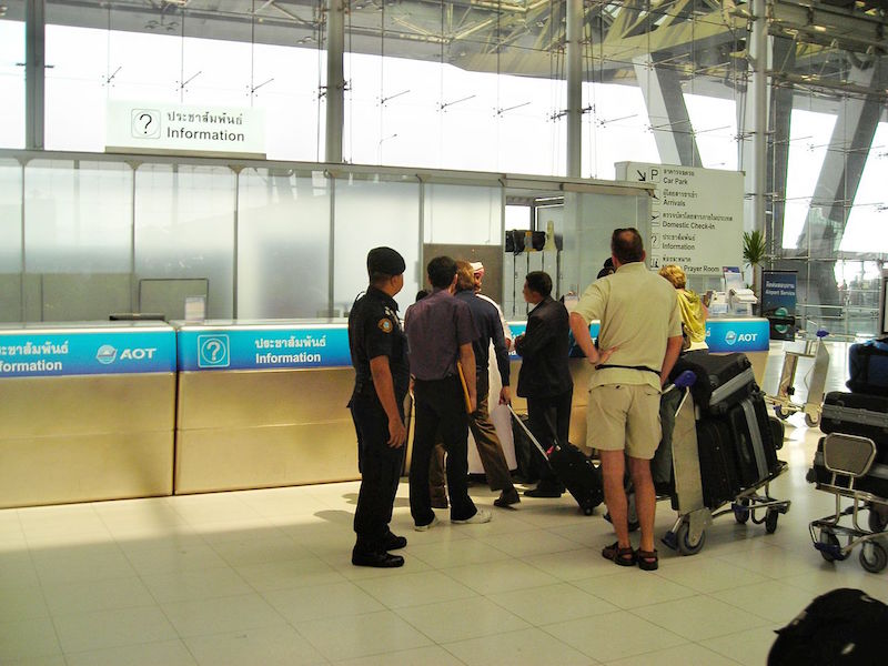 AOT information desk at Suvarnabhumi airport