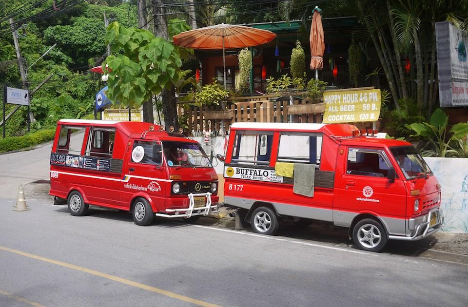Tuk tuks in Ban Karon, Phuket, Thailand