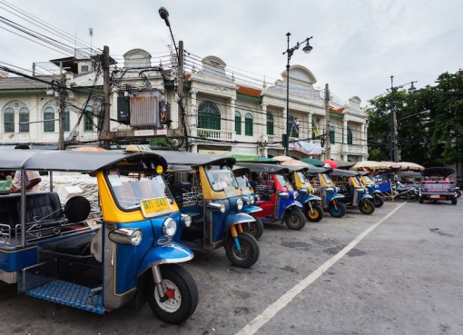 Tuk-tuks at Soi Maha Rat, Bangkok