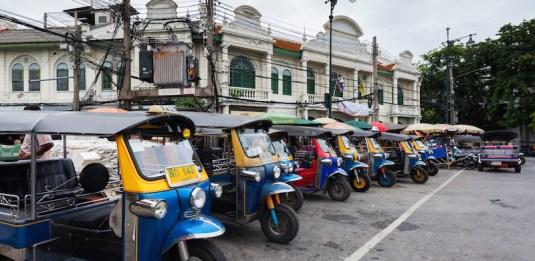 Tuk-tuks at Soi Maha Rat, Bangkok