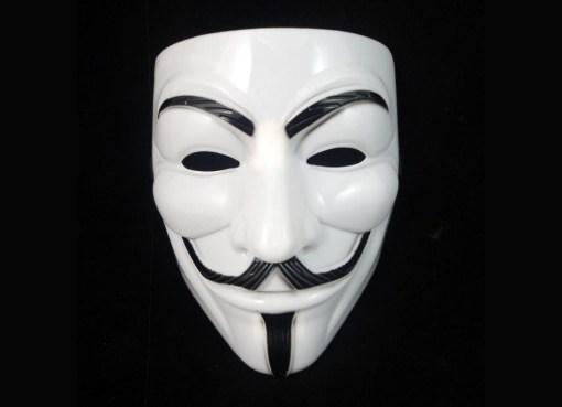 Hacktivist white mask