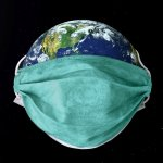 Earth COVID-19 Coronavirus mask