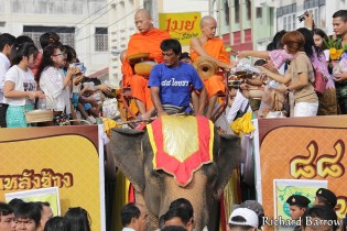 Alms Round on Elephant Back