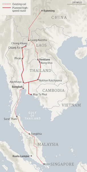 Kunming Bangkok Spore Railway