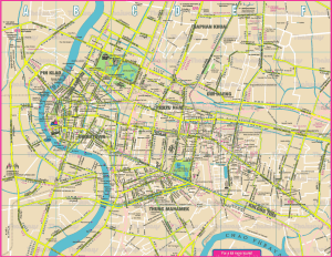 Map of Bangkok Thailand