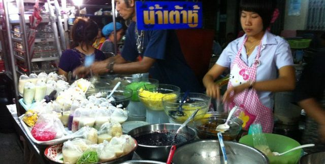 local food stall in thailand
