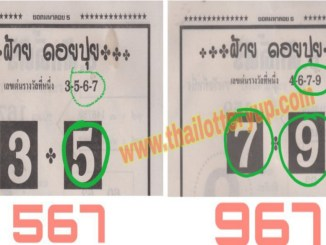 thai lottery digit paper