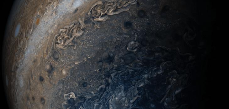 ภาพเมฆสีต่างๆบนดาวพฤหัสบดี