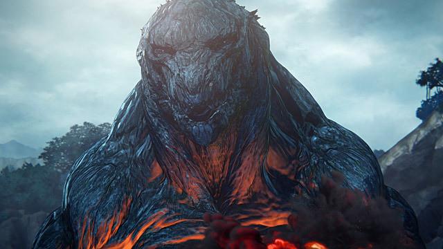 映画『GODZILLA 怪獣惑星』の一場面