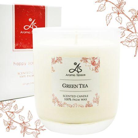 綠茶植物蠟香氛蠟燭165g-送杯蓋
