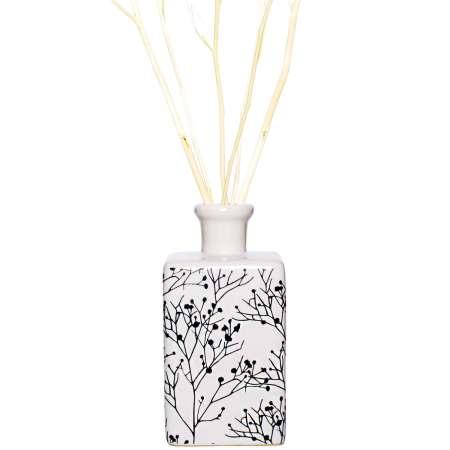 Branches 盛開花瓶擴香禮盒組- 綠茶香水(白)