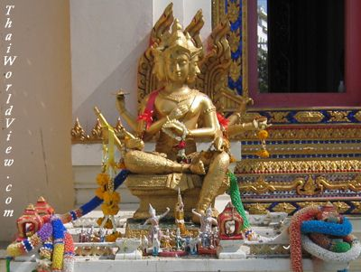 Lord Brahma in a Pattaya Temple