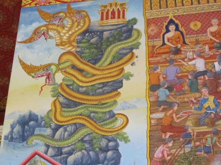 Naga malba Wat Pho Chai Nong Khai