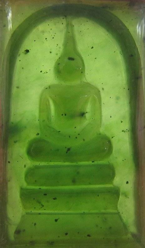 Nefritový Buddha - amulet vyrobený z odřezku