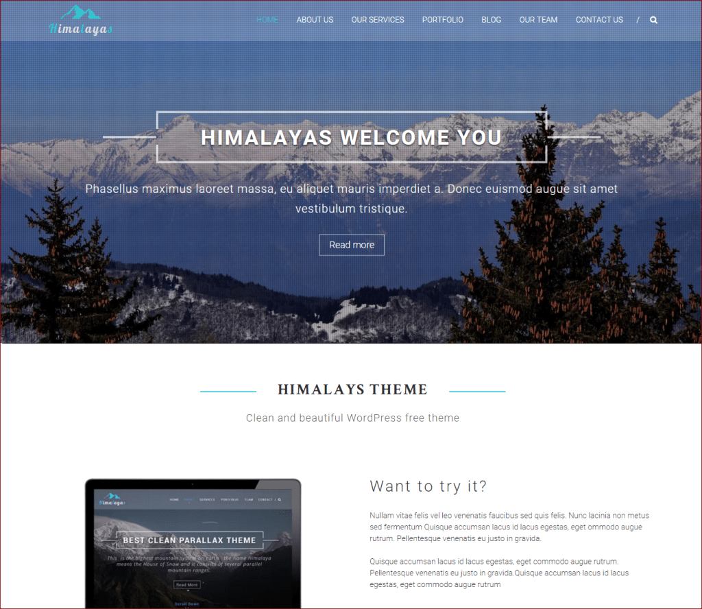 Himalayas wordpress theme - wordpress templates for photographers | Thakur Blogger