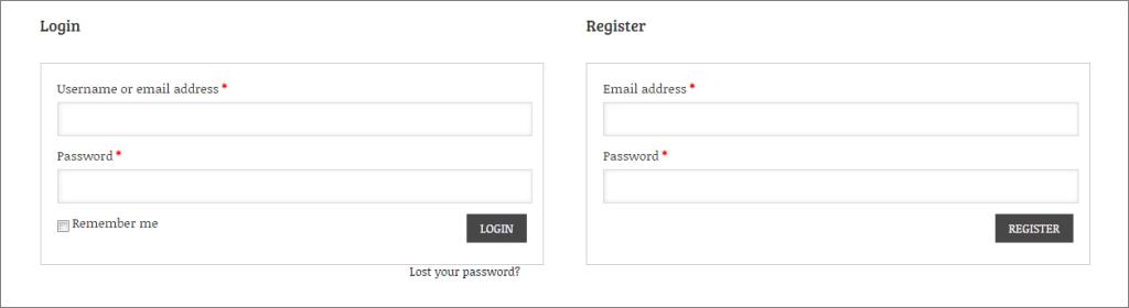 Login feature of Socute ecommerce theme - Thakur Blogger