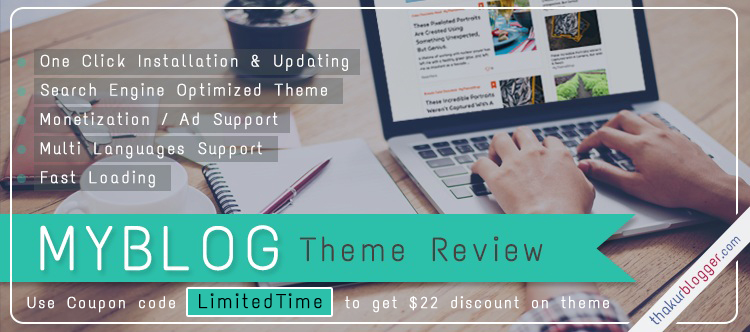My Blog Theme Review - Wordpress Blog template
