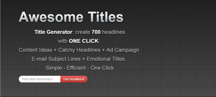 Title Generator - Blog title generator tool