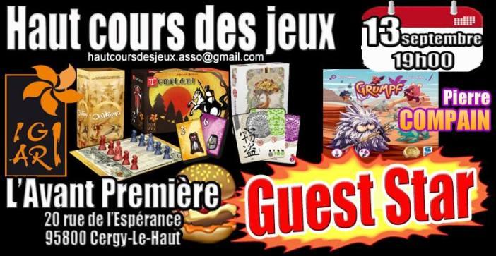 Cergy Le Haut (95) - Soirée jeux : mercredi 13 septembre