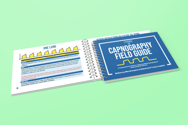 mockup featuring two spiral notebooks placed over a solid color surface 460 el - The Capnography Field Guide