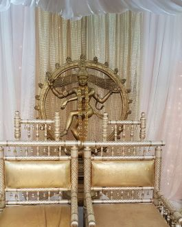Gold and white chair set