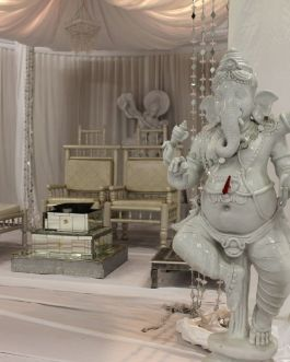 Ganesha perched on one leg