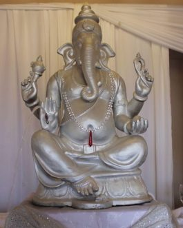 Pearl white ganesha water feature