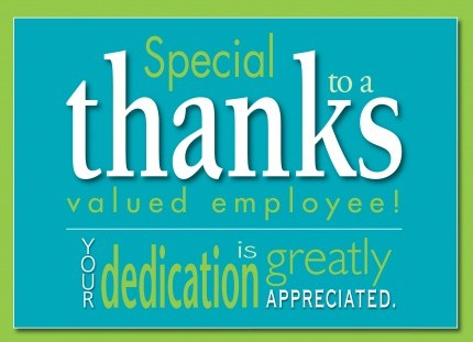 Thanks Message For Appreciation To Employees