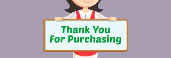 thank you for purchasing
