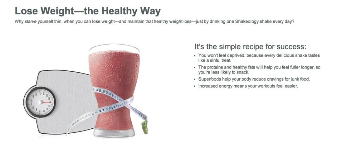Healthy Weight Loss Shakeology