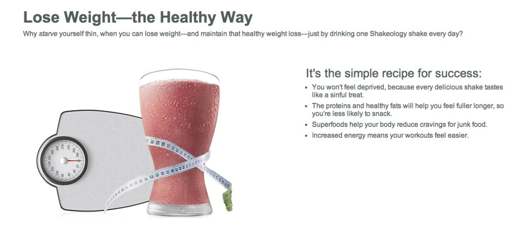 Healthy Weight Loss Shakeology