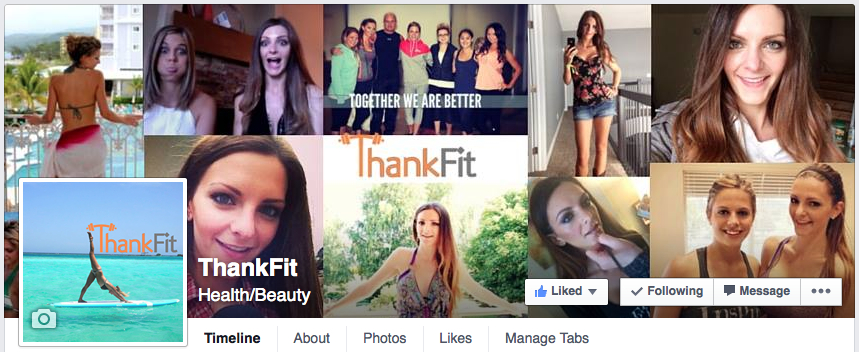 ThankFit Facebook Page