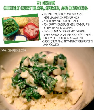 21 Day fix spinach coconut curry