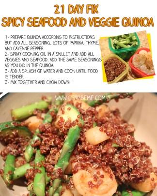 21 Day Fix Seafood Quinoa
