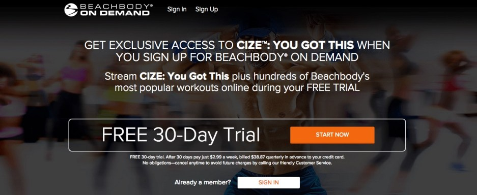 Cize Beachbody on Demand