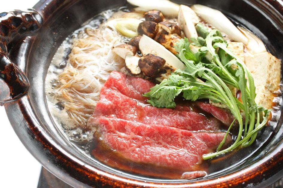 beef Sukiyaki Japanese recipe cooking in one pot