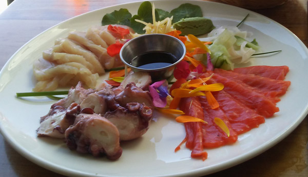 Sooke Harbor Sashimi Plate