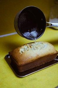 drizzle yuzu lemon pound cake