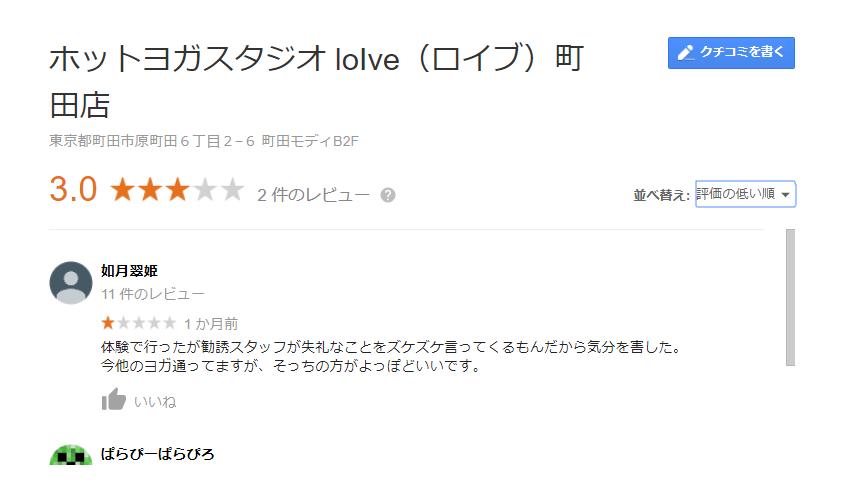 ロイブ町田店口コミ